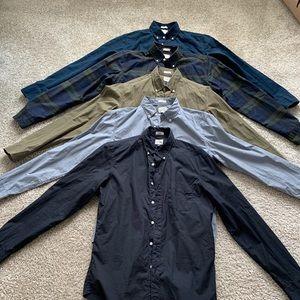 Five Jcrew button down shirts size M